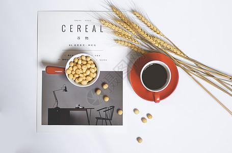 丰盛的早餐与咖啡图片