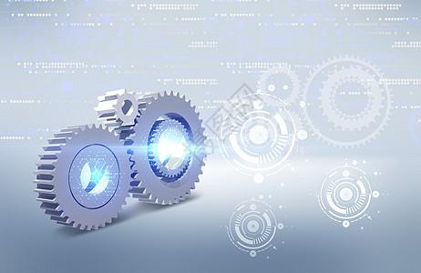齿轮连接协作发光图片