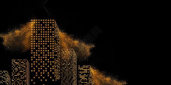 黑金大气背景图片