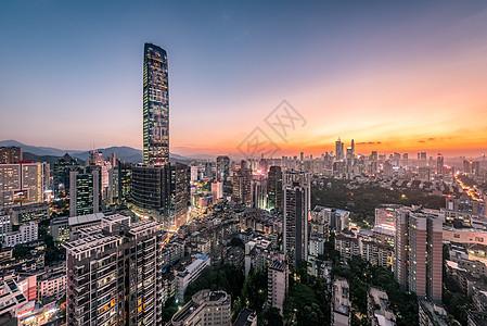 京基一百大厦深圳夜景图片