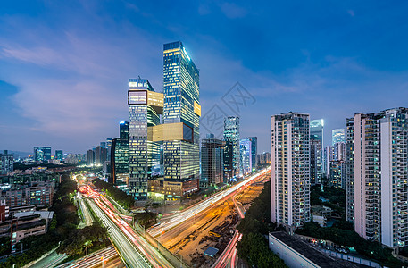 新腾讯大厦夜景图片