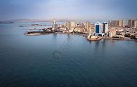 鸟瞰青岛老城区图片