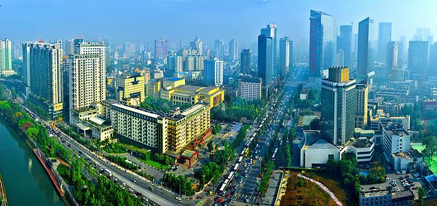 成都市人民南路全景图图片