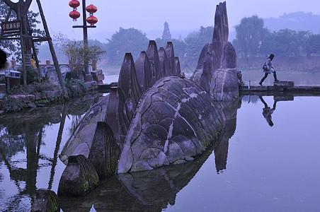 成都市郊的黄龙溪古镇景区图片