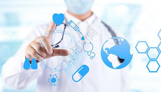 男医生与医疗科技图片