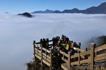 成都大邑县西岭雪山景区的云雾图片