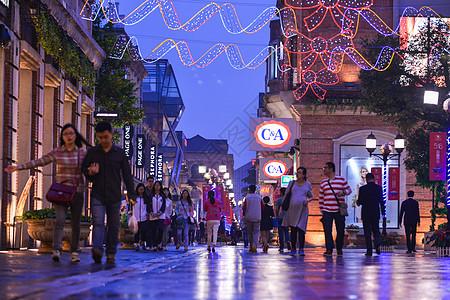 武昌著名街道-楚河汉街夜景图片