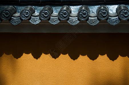 灵隐寺的墙面图片