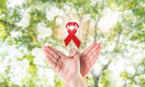 预防艾滋病红丝带图片