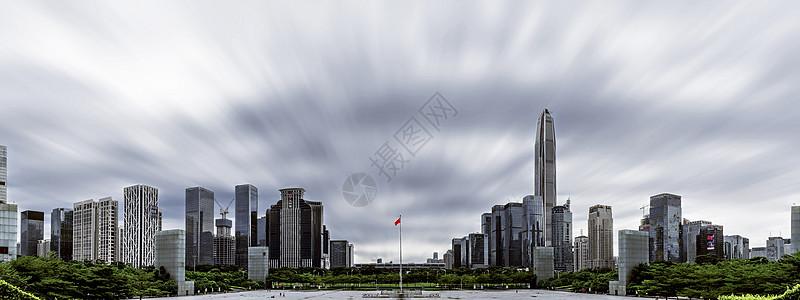 深圳建筑天际线全景图背景图片