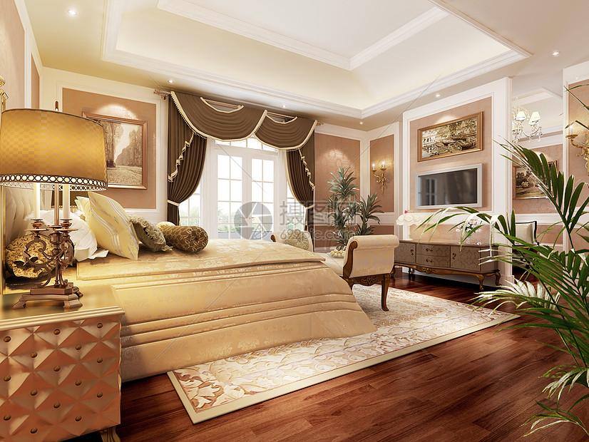花瓣 举报 标签: 次卧室欧式效果图欧式风格床品地毯卧室卧室效果图主