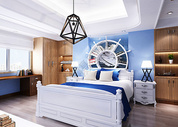 地中海风格卧室效果图图片