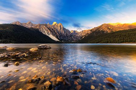 措普沟唯美风景图片