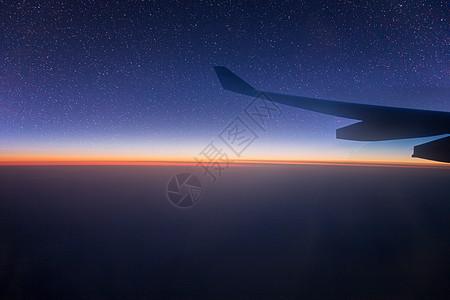 飞机上的星空图片