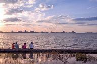 上海滴水湖风光图片