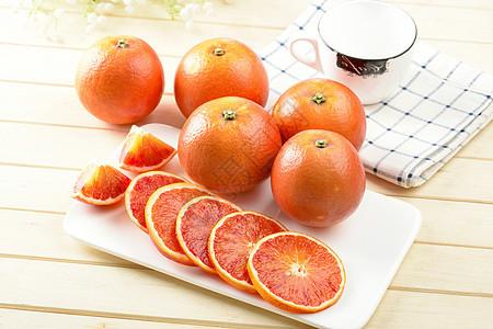 切片的血橙图片
