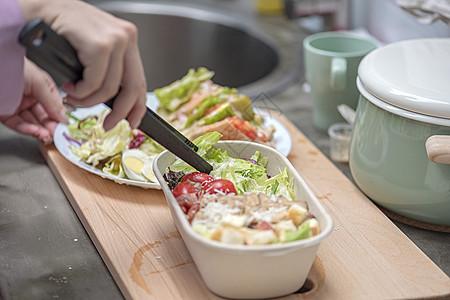 制作绿色食品高清图片