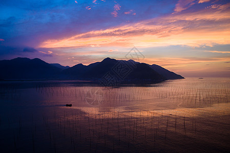福建霞浦北岐滩涂日出图片