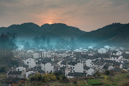 江西婺源石城日出图片