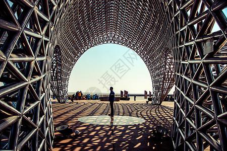 上海南汇嘴观海公园一角图片