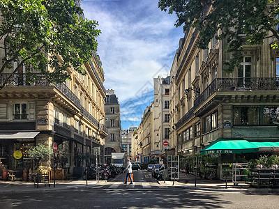 欧洲旅游城市巴黎街景图片