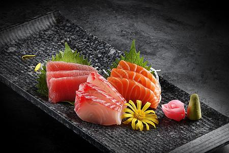 日式料理刺身拼盘图片