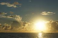 马尔代夫的落日余晖图片