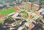 重庆市第一实验中学大学城校区航拍图片