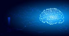 大脑科技背景图片