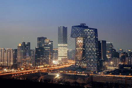 北京中央电视台总部大楼夜景图片