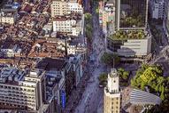 俯瞰上海南京路图片