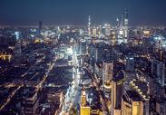 上海城市天际线夜景图片