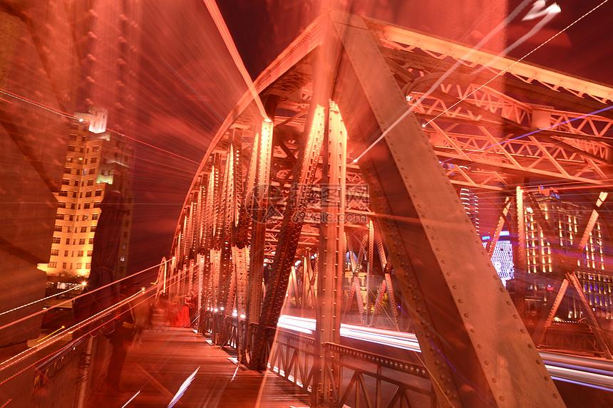 上海城市风光外白渡桥夜景图片