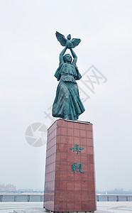 黑河母亲广场雕塑图片