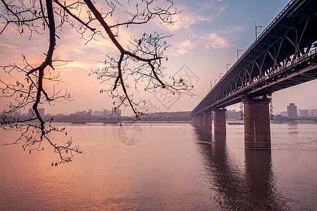 武汉长江大桥风光图片