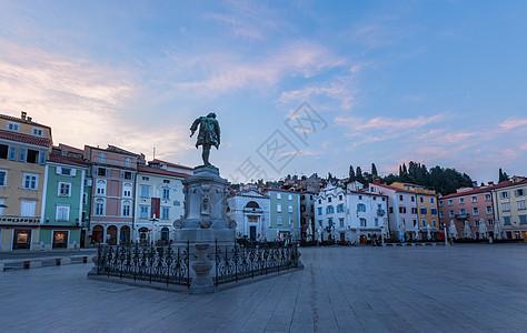 欧洲斯洛文尼亚旅游名城皮兰城区中心广场图片