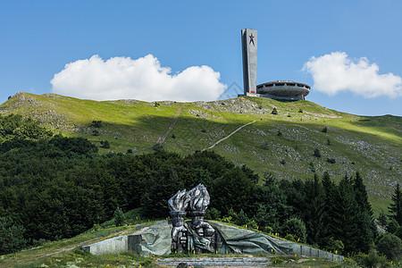 欧洲保加利亚飞碟纪念碑图片