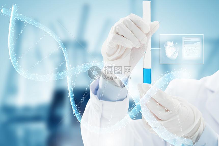 医疗试剂里的DNA图片