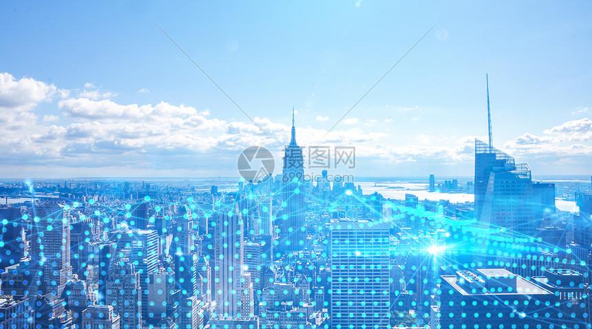 城市科技背景图片