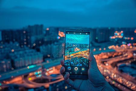 武汉城市夜景立交桥图片