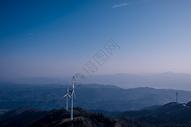 仙居顶风光风车山峦图片