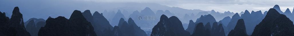 连绵群山全景图片