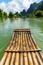 漓江漂流竹筏竹排图片