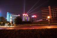 都市,夜景,建筑,路灯,灯光,夜空图片