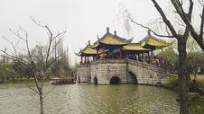 扬州廋西湖五亭桥图片