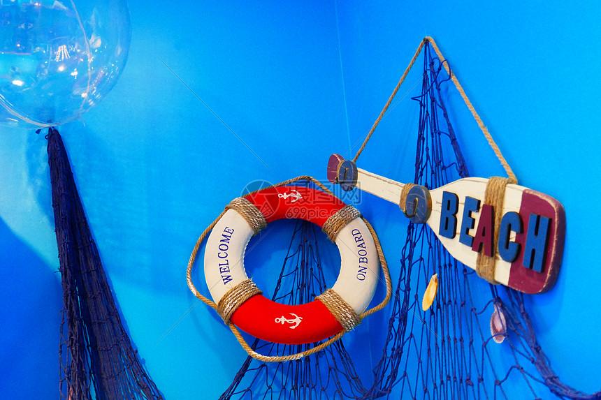 海滩活动装饰物图片