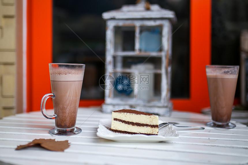 咖啡甜点图片