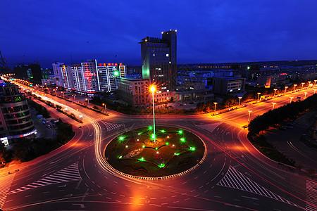 黑河城市夜景图片