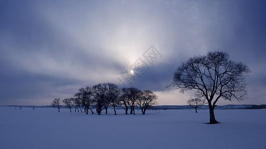 黑河冬景图片