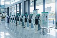 上海机场自助机器图片